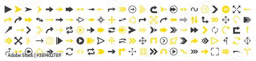 Fotografija Arrows icon set in flat style on white background