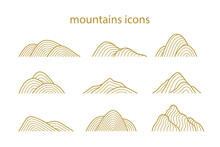 Collection Of Mountain Shapes ...