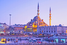 The New Mosque In The Evening,...