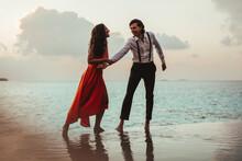 Couple Enjoying In An Infinity...