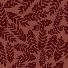Vector Seamless Pattern With F...
