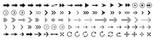 Arrows Set Of Black Icons. Arr...