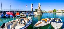 Famous Harbor Of Lindau Am Bod...