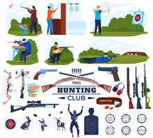 Hunting Club Vector Illustrati...