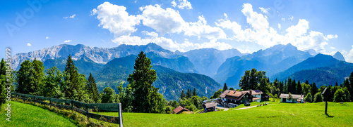 landscape at the wetterstein mountains - bavaria Fototapete