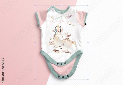 Fototapeta Baby Vest Open Mockup obraz