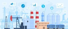 Oil Gas Industry Vector Illust...