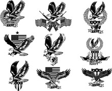 American Eagle. Military Marine And Crossing Rifles. Military Combat Aircraft