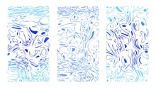 Marine Templates, Blue Doodles...