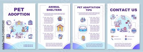 Photo Pet adoption brochure template