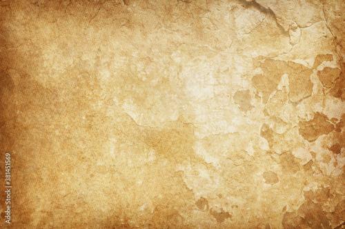 Fototapeta beige dirty old paper background, paper texture obraz