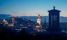 Edinburgh City Skyline From Ca...
