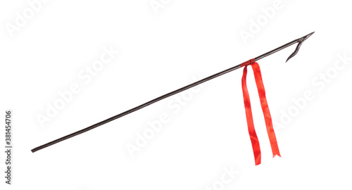 Cuadros en Lienzo ancient iron spear isolated on white background