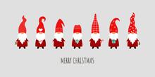 Set Of 7 Christmas Gnomes