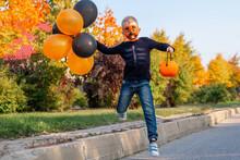 Halloween Boy In Carnival Cos...