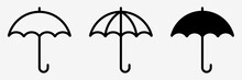 Umbrella Simple Icon Set. Umbrella. Vector Illustration