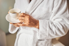 Male Hands Holding Cup Of Coff...