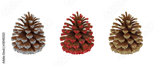 Fotografie, Obraz set of christmas decorations