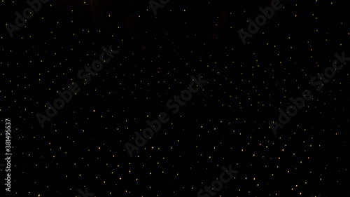 Points of light in absolute darkness like a starry sky Wallpaper Mural