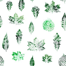 Seamless Pattern With Leaves I...