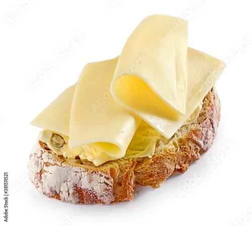 Cuadros en Lienzo breakfast sandwich with butter and cheese