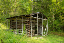 Shed On Beaver Jim Villines' Farmstead At The Ponca Access To The Buffalo National River, Arkansas