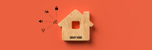 Wooden House Symbol With Messa...