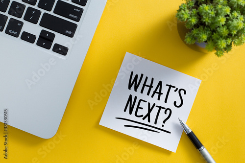What is Next Concept On Sticky Note - fototapety na wymiar