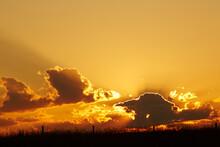 Amazing Sunset With Dark Backl...