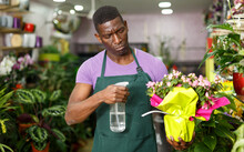 African American Man Florist W...