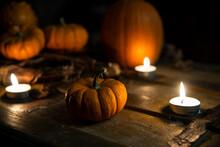 Calabazas Halloween Oscuro Ten...