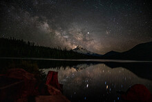 Amazing View With Milky Way An...
