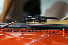 Closeup Of Heritage Cars From Mercedes Benz And