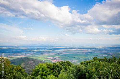Cuadros en Lienzo Vue sur la plaine d'Alsace