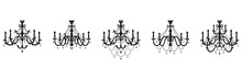 Classic Chandelier Collection. Stock Vector