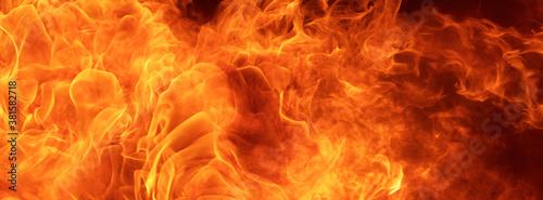 Cuadros en Lienzo blaze fire flame conflagration texture for banner background