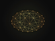 Ellipse Golden Abstract Illust...