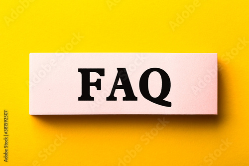 Obraz na plátne FAQ Business Concept Frequently Asked Questions