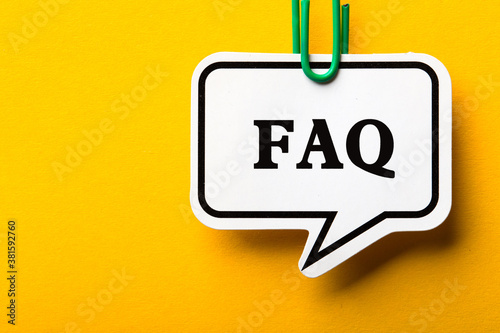 Fototapeta FAQ Business Concept Frequently Asked Questions