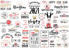年賀状文字デザイン2021 色替え