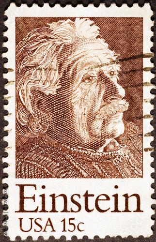 Cuadros en Lienzo Albert Einstein on US postage stamp