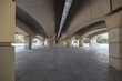 under the bridge without people