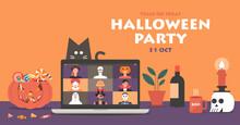Online Halloween Party Concept...