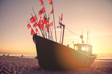 Fisherman Boats At Sunrise Tim...