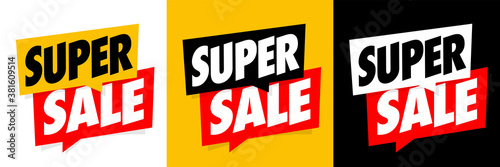 Fototapeta Super sale on speech bubble obraz