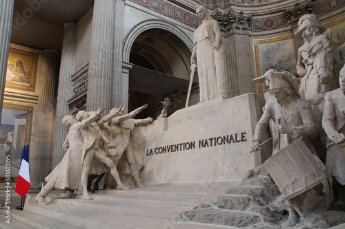 Photo statue in the pantheon in paris (france)