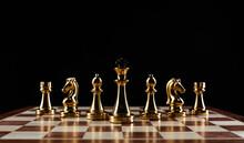 Golden Chess Figures Standing ...