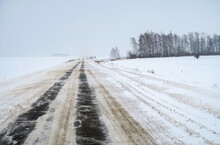 The Road Is Covered With Ice A...