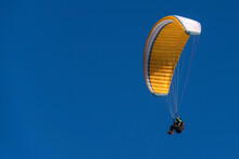 Paragliding Hang Glider In The Blue Sky