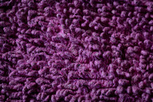 Texture Of A Purple Soft Shagg...